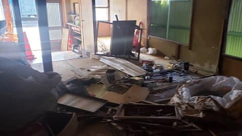 長野市の解体工事現場