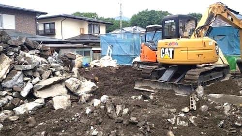 解体工事の宅地整地工程