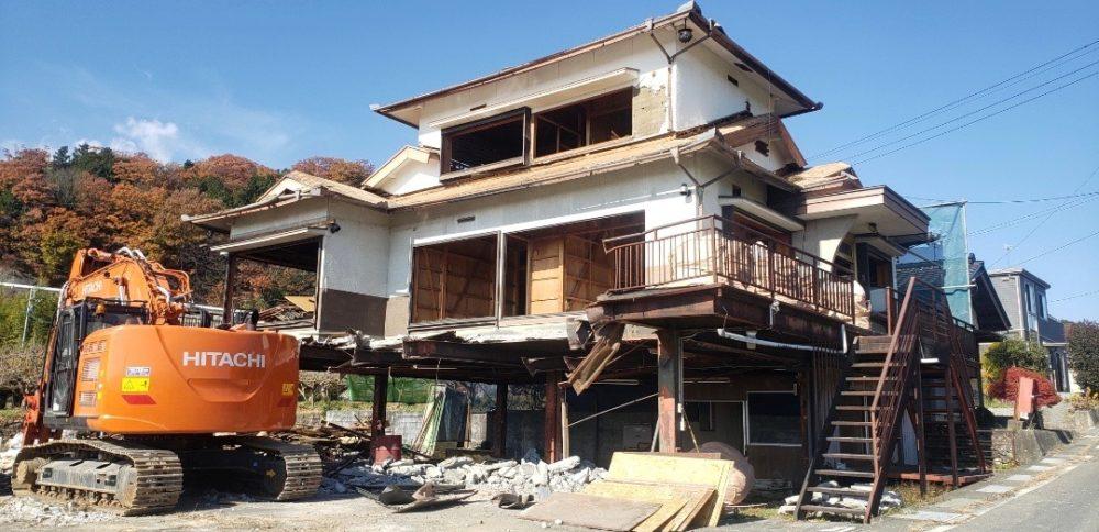 長野県飯田市3階建て民家解体工事