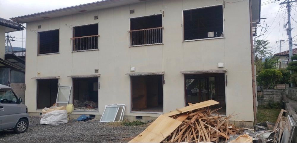 長野県長野市の木造2階建アパートの解体工事の事例紹介です