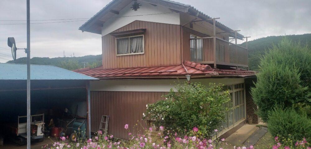 長野県千曲市上山田の木造2階建の解体工事です
